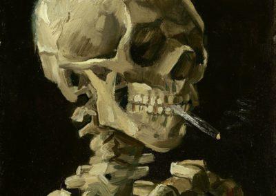 Crane de squelette fumant une cigarette - Vincent Van Gogh (1885)