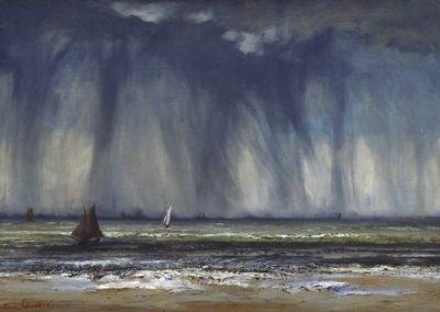 La trombe de mer - Gustave Courbet (1866)