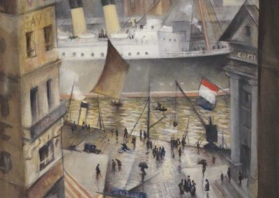 A Boulogne window - Christopher Richard Wynne Nevinson (1925)