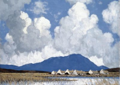 A Connemara village - Paul Henry (1911)
