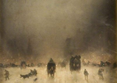 A foggy night in London - James Abbott McNeill Whistler (1861)