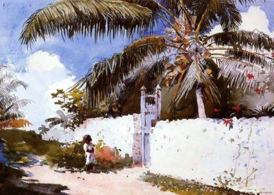A garden in Nassau - Winslow Homer (1885)
