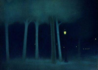 A park at night - Jozsef Rippl-Ronai 1893