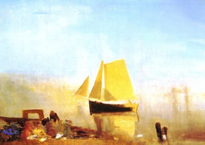 A sail boat at Rouen - William Turner (1828)