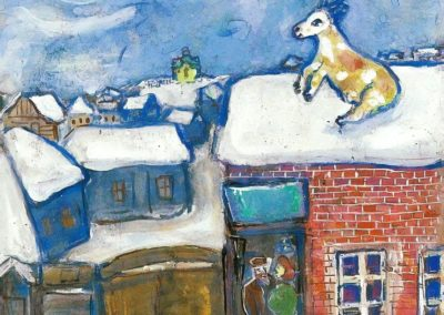 A village in winter - Marc Chagall (1930)