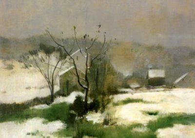 An early winter - John Henry Twachtman (1882)