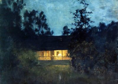 At the summer house in twilight - Isaac Levitan (1895)