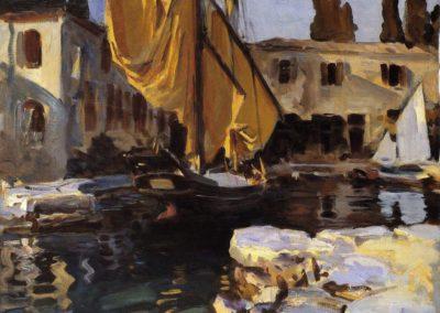 Bateau a voile doree, San Vigilio - John Singer Sargent (1913)