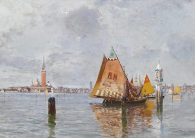 Bateau de peche dans la lagune - Carlo Brancaccio (1910)