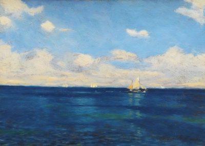 Bateau sur mer calme - Victor Qvistorff (1929)