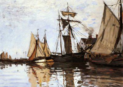 Bateaux dans le port de Honfleur - Claude Monet (1866)