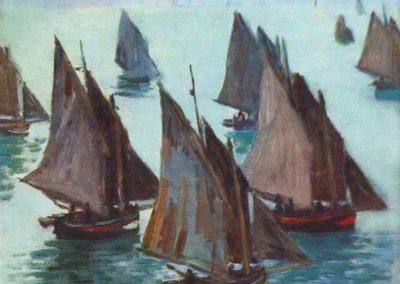 Bateaux de pêche, temps calme - Claude Monet (1868)