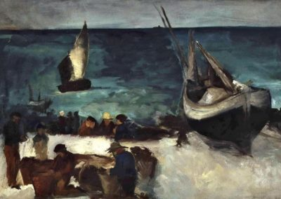 Bateaux de peche et pecheurs, Berck - Edouard Manet 1837