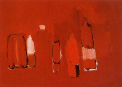 Bouteilles rouges - Nicolas de Staël (1955)