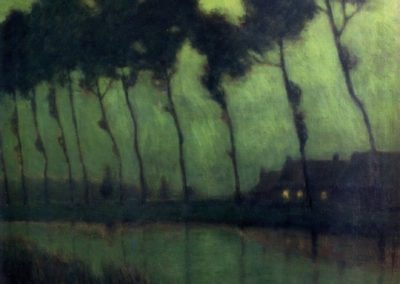 Bruges moonlight - Charles Warren Eaton (1910)