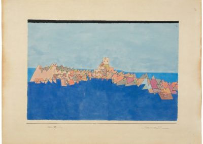 Burg auf dem riff - Paul Klee (1927)
