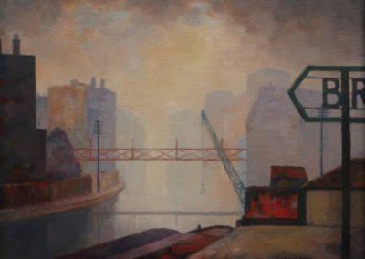 Canal scene, Brymay wharf - Walter Stegglers (1927)