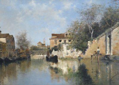 Canal venitien - Rafael Senet y Perez (1884)
