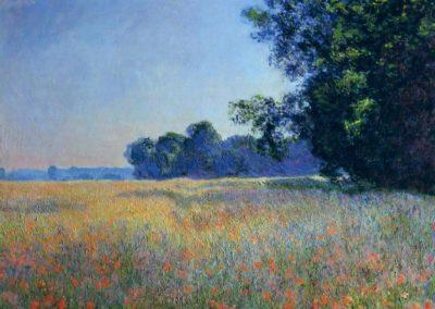 Champ d'avoine et de coquelicots, Giverny - Claude Monet (1890)