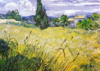 Champ de bles verts avec cypres - Vincent Van Gogh (1889)