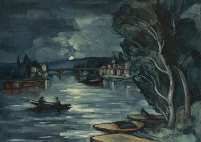 Chatou, la nuit - Maurice de Vlaminck 1910