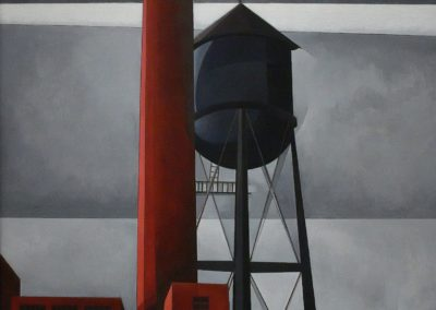 Chimney and water tower - Charles Demuth (1931)