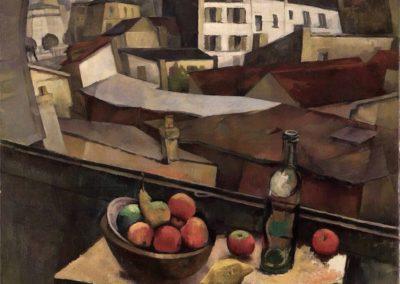 Coltello e frutta davanti alla finestra - Diego Rivera (1917)