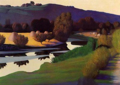 Crepuscule sur le Loire - Felix Vallotton (1923)