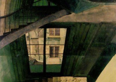 Escalier, 54 rue de seine - Sam Szafran (1960)
