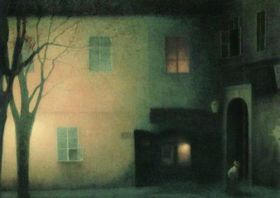 Evening in Tynska - Jakub Schikaneder (1909)