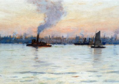 Evening on the Hudson - Charles Warren Eaton (1886)