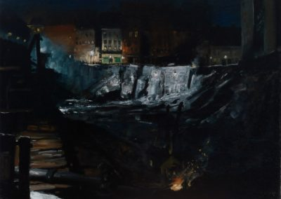 Excavation at night - George Wesley Bellows (1908)