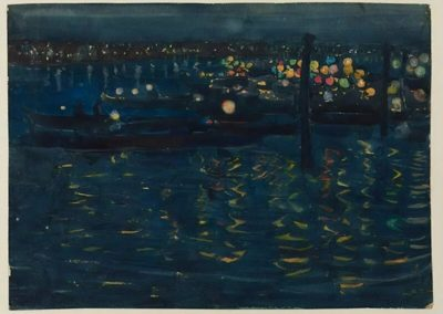 Festival de nuit, Venise - Maurice Prendergast (1898)