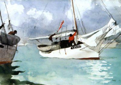 Fishing boats, Key West - Winslow Homer (1903)