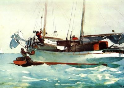 Fishing vessel, Nassau - Winslow Homer (1895)