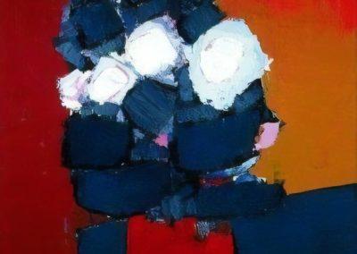 Fleurs dans un vase rouge - Nicolas de Staël (1952)