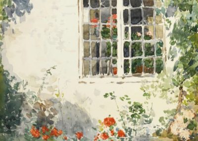 Flowers against a wall - Child Hassam (1890)
