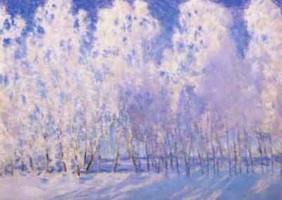 Gorgeous hoar frost - Igor Grabar (1905)