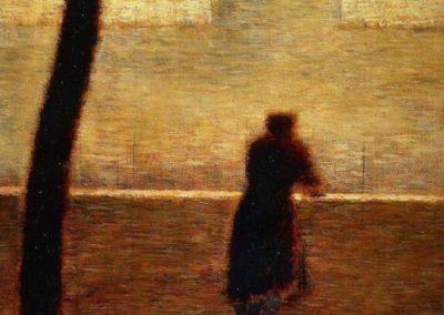 Homme sur le parapet - Georges Seurat (1881)