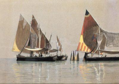 Italian boats Venice - William Stanley Haseltine (1867)