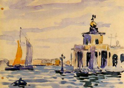 La douane de mer - Henri-Edmond Cross (1903)