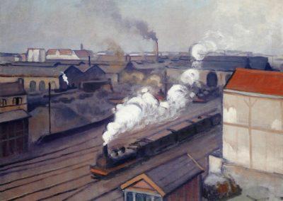 La gare montparnasse - Albert Marquet (1912)