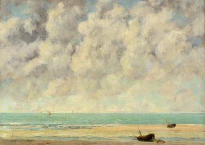 La mer calme - Gustave Courbet (1869)