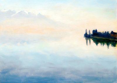 Lac Leman, vue de Montreux - Albert Marquet (1937)