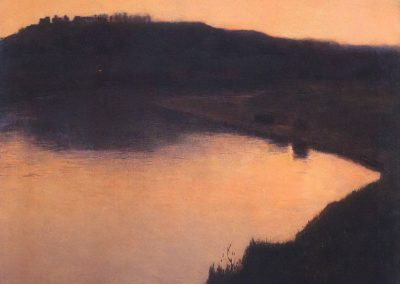 Lake at sunset - Aleksander Gierymski (1891)