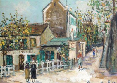 Lapin Agile, rue Saint Vincent, Montmartre - Maurice Utrillo (1937)