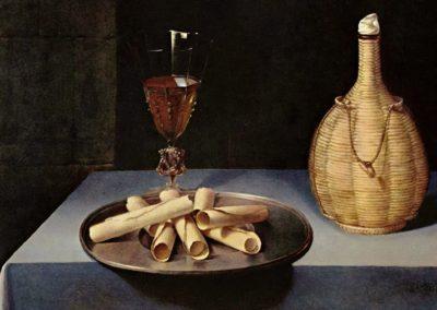 Le dessert de gaufrettes - Lubin Baugin (1630)
