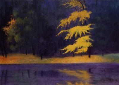 Le lac dans le bois de Boulogne - Felix Vallotton (1921)