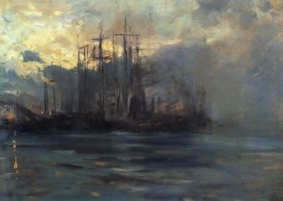 Le port de Marseille - Konstantin Korovin (1890)