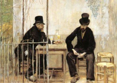 Les buveurs d'absinthe - Jean-Francois Raffaelli (1881)